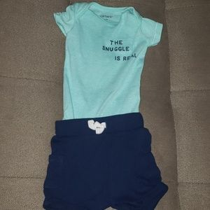 Onsie and shorts carters set